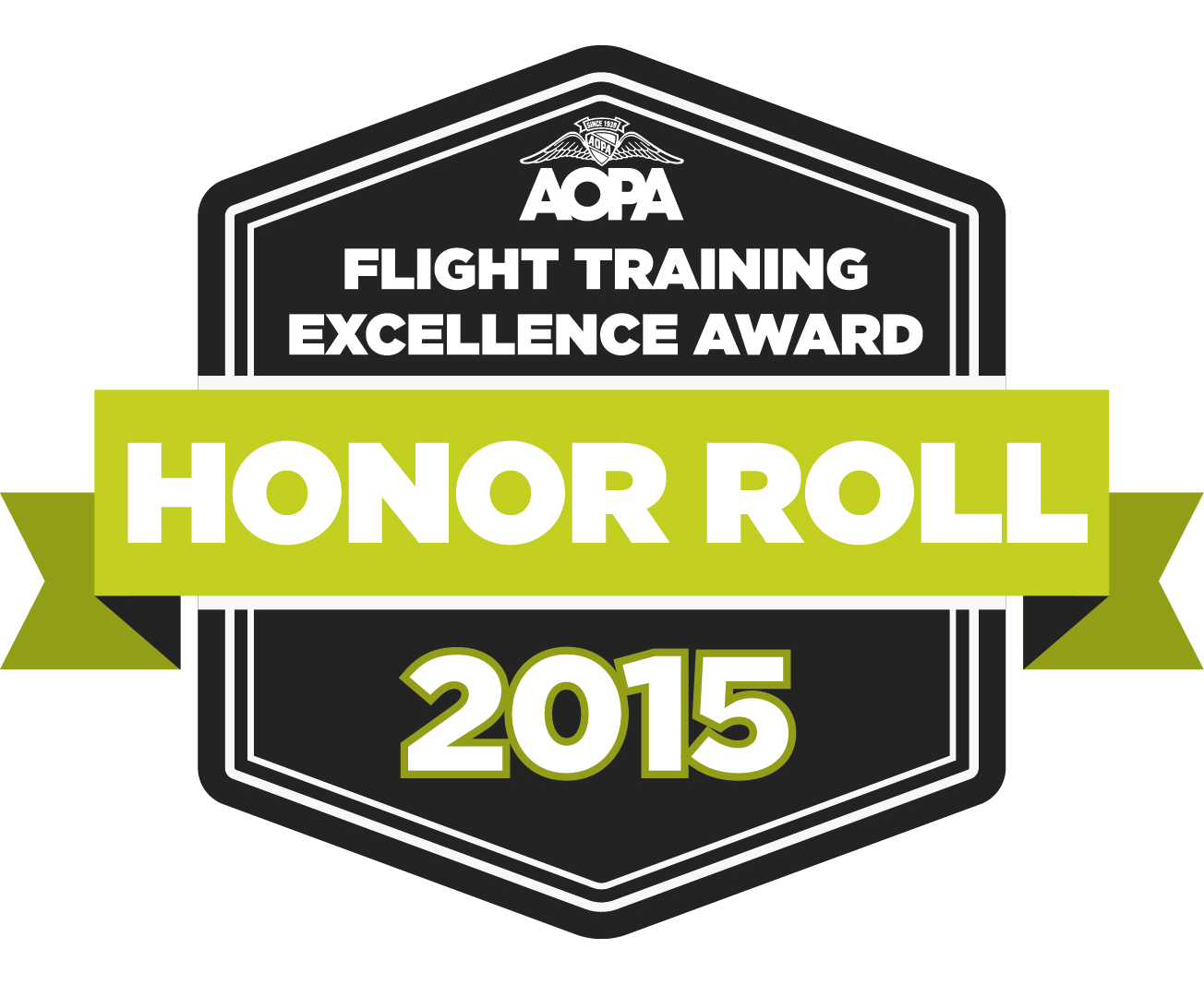 2015 AOPA Honor Roll Flight Training Excellence Award