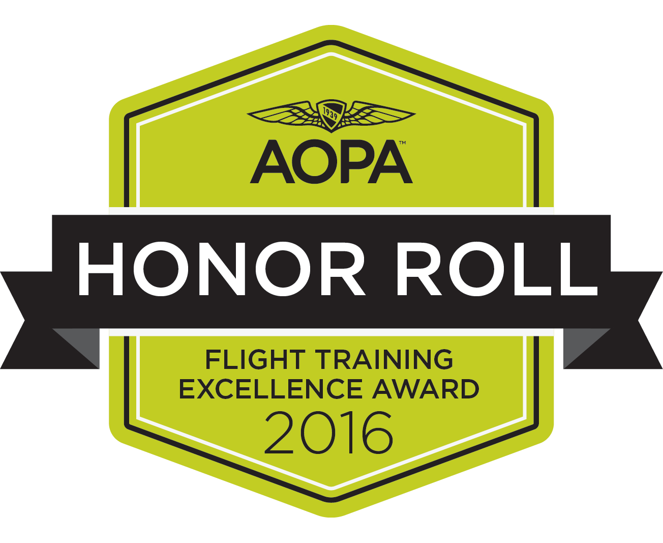 2016 AOPA Honor Roll Flight Training Excellence Award