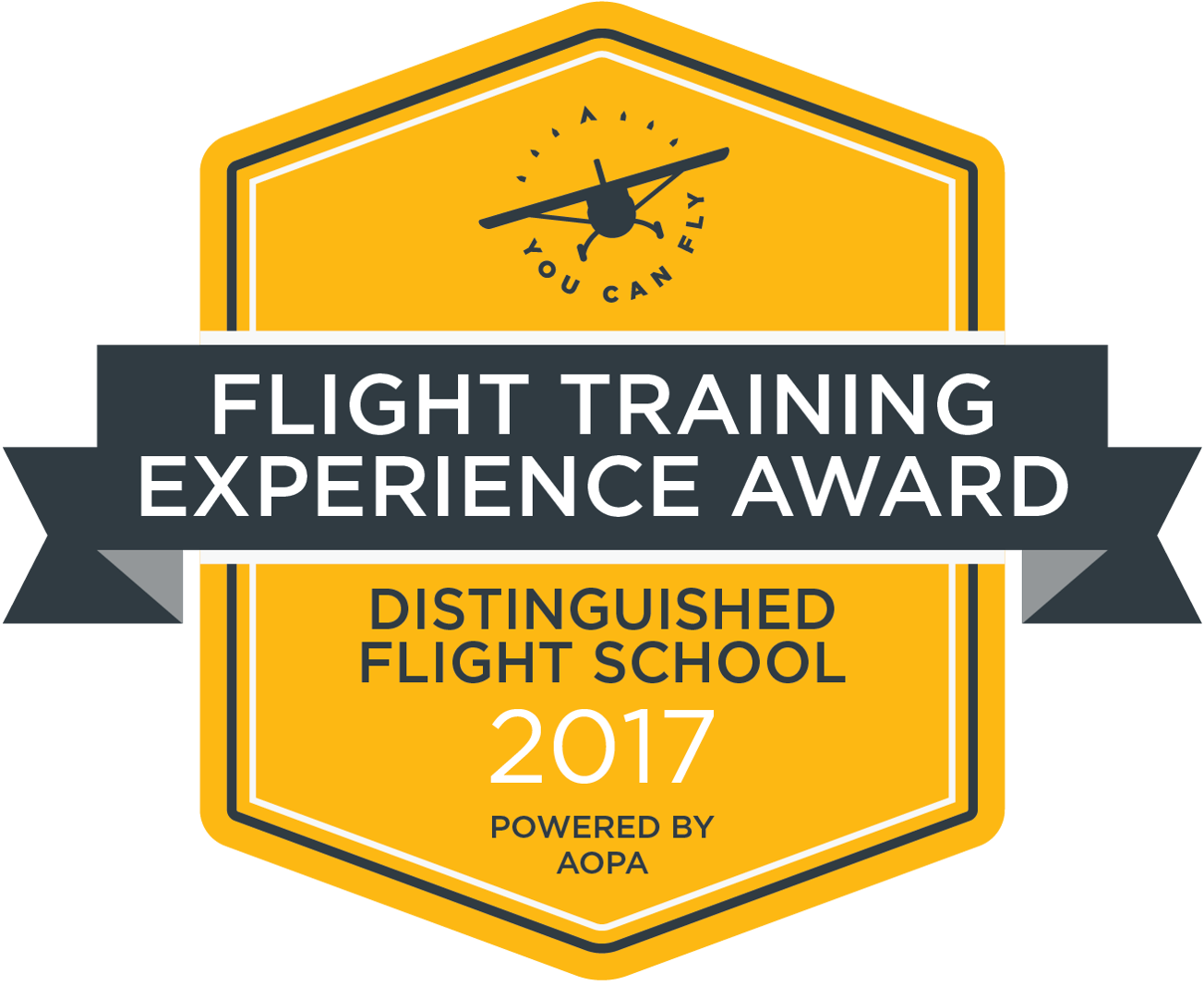 2017 AOPA Distinguished Flight School Flight Training Experience Award