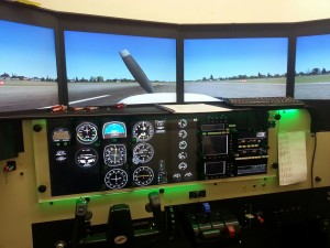 Redbird flight simulator panel 2