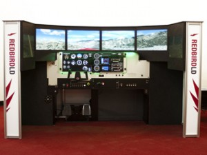 Redbird flight simulator outside
