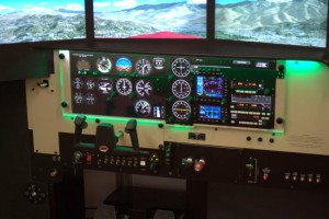 Redbird flight simulator panel